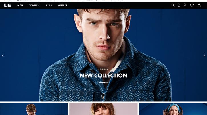 Voorpagina website WE Fashion