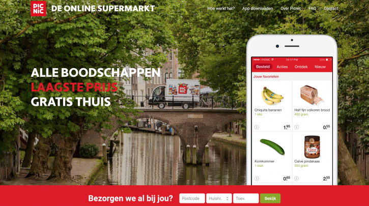 Voorpagina website Picnic