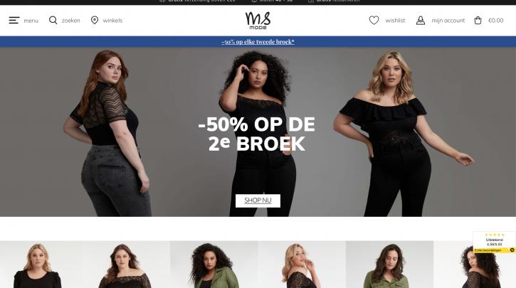Voorpagina website MS Mode