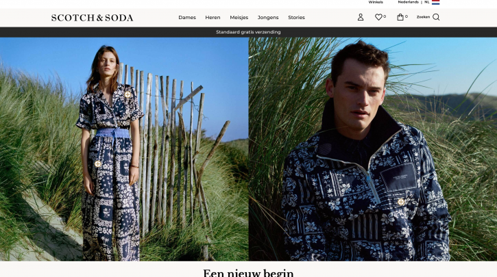 Voorpagina website Scotch & Soda