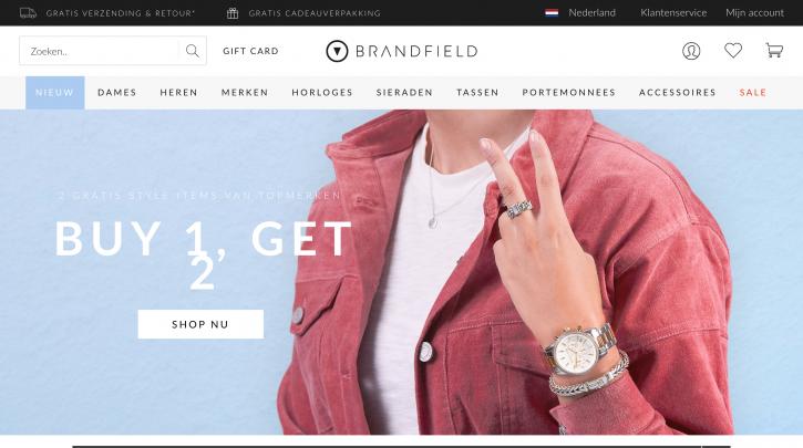 Voorpagina website Brandfield