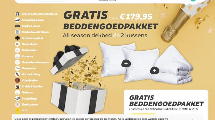 Voorpagina website Dekbed-Discounter.nl