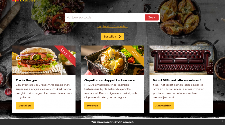 Voorpagina website Spare Rib Express